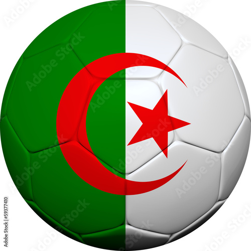 Algerian Flag With Soccer Ball
