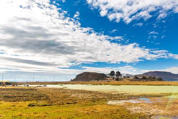 Lake Titicaca,South America, located on border of Peru