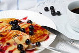 Blackcurrant pancakes