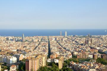 Häuser und Strassenschluchten in Barcelona