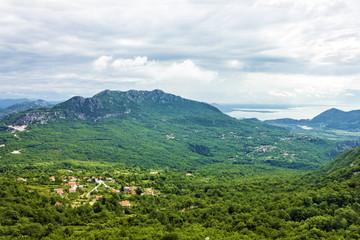 Montenegro village - panoramic mountain landscape