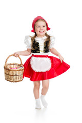 child in christmas carnival costume Red Hood