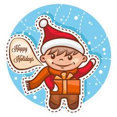 cute little santa boy