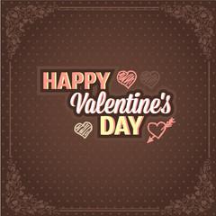 retro valentines card