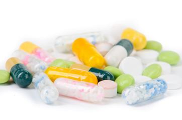 auswahl an tabletten