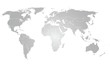 World Map Vector grey gradient