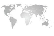 Carte du monde vectorielle gris dégradé