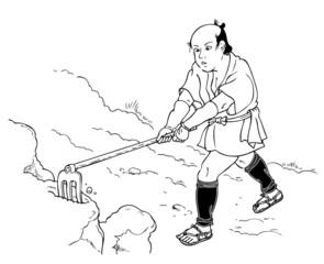 耕す人(江戸)