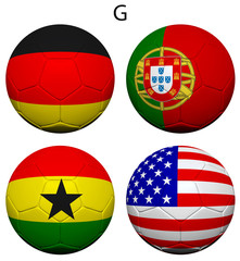 Soccer Championship 2014 Group G Flags