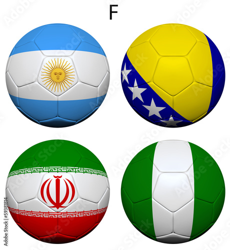 Soccer Championship 2014 Group F Flags