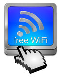 free WiFi Wlan Button mit Cursor