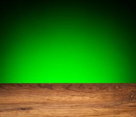Wood grain texture - oak board on green background