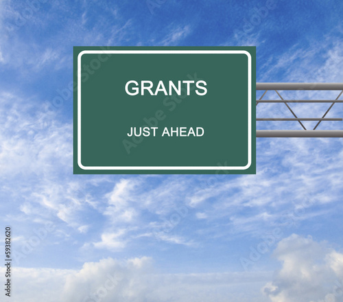 Road sign to grants