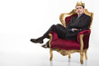 Leinwanddruck Bild - Chef sieht sich als König
