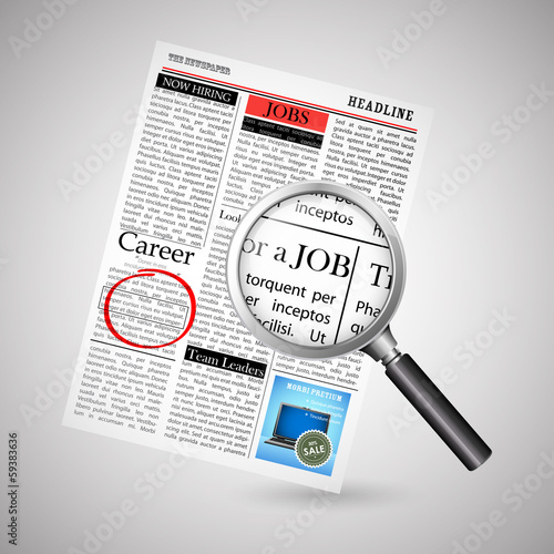 Job Search in Newspaper