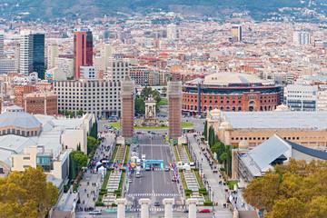 Plaza Espanya, Barcelona, Spain.