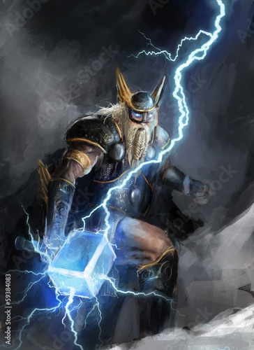 god of lightning thor