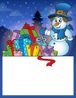 Small frame with snowman 1