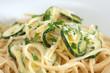 Spaghetti pasta with zucchini