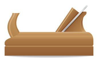 tool wooden plane vector illustration