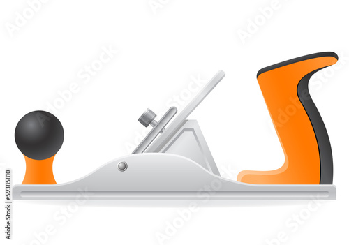 tool metal plane vector illustration