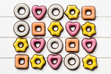 colorful confectionery of various shapes