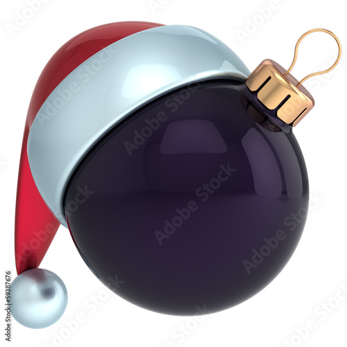 Christmas ball ornament New Year bauble decoration black