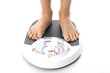 Woman on Bathroom Scales