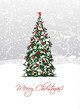 Christmas tree, postcard design