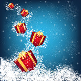 christmas gift boxes vector