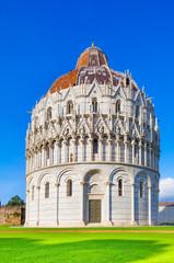 Pisa, Miracle Square. Bapstistry of Pisa. Tuscany, Italy