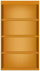 book shelves vector