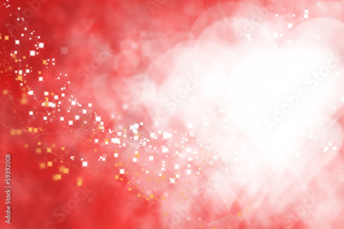 Valentine Hearts Abstract  Background.