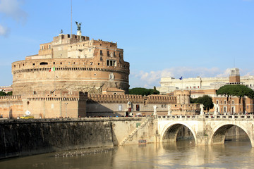 Rome, Castel Sant'Angelo and Ponte Sant'Angelo