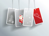 Winter Christmas hanging cards with place for your text.