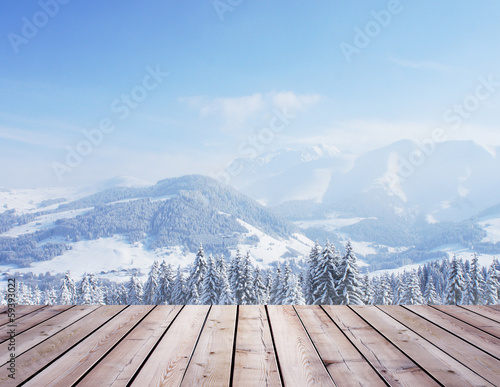 canvas print picture forest and roof