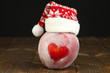 Holiday apple with frosted heart