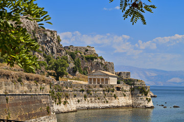 The Old Venetian castle at Corfu island in Greece