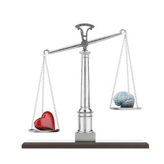 Scales with brain and heart