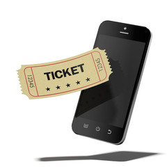 Smart phone and cinema ticket