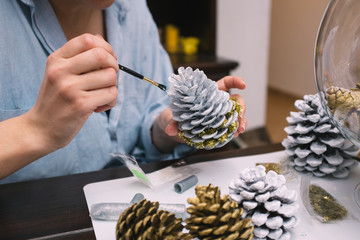 Making decorations for Christmas