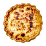 single quiche lorraine isolated