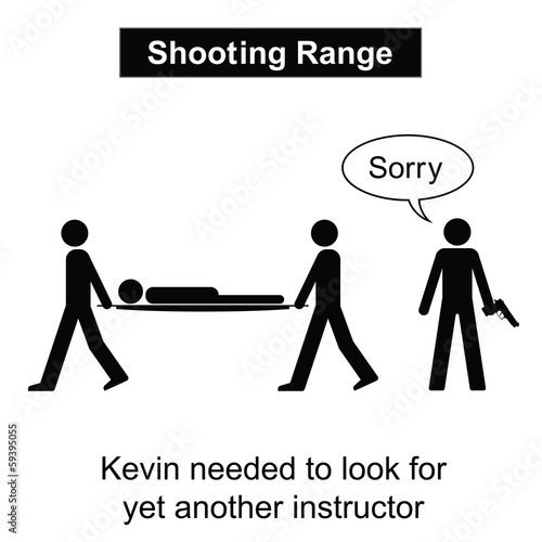 Kevin was not a good shot cartoon