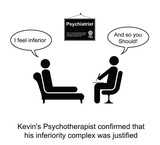Kevin and hi inferiority complex cartoon