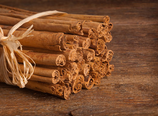 Bunch of Ceylon cinnamon