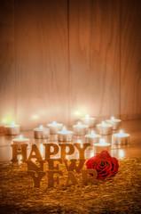 Happy New Year, Silvester, Grußkarte, Glückwünsche