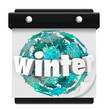 Winter Snowflake Background Calendar Page Start Season
