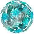 Snowflake 3D Ball Sphere Winter Symbol Snowball