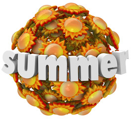 Summer Suns 3D Word Season Change