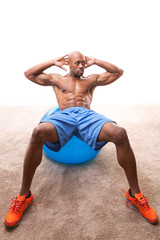 Man Doing Ab Crunches